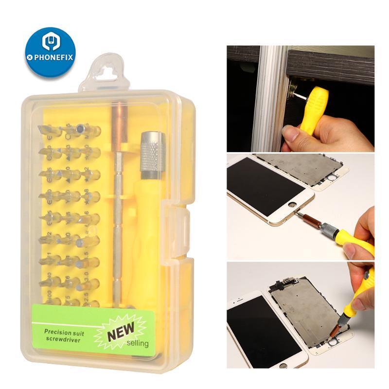 32 в 1 Набор отверток Precision Мультитулы ЖК-экран Открытие отверток для телефонов Tablet PC Repair Hand Tool Kit