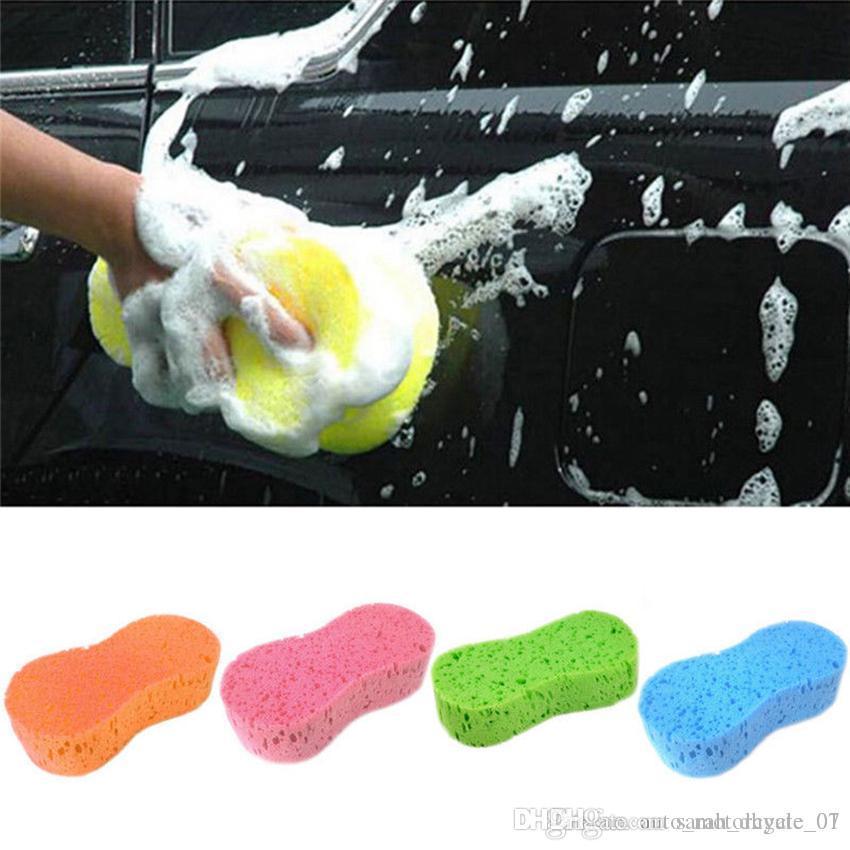 5pcs / Lot auto cuidado esponja de lavagem de carros para lavagem e limpeza produtos de limpeza do carro ferramentas de pano amarelo, azul, vermelho, GGA183 verde, marrom