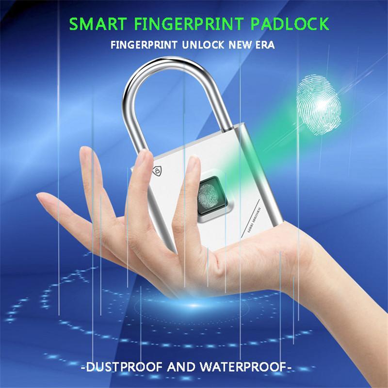 Smart Lock отпечатков пальцев Padlock отпечаток пальца дверные закладки портативные противоугонные для чемодана