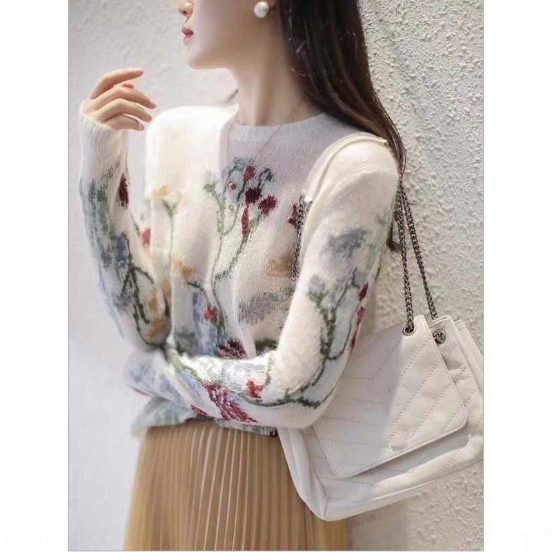 aBu6J JoOun bordados oca-out malhas bordado socialite Mohair camisa de base em torno do pescoço pequena sexy flores das mulheres malhas estilo coreano