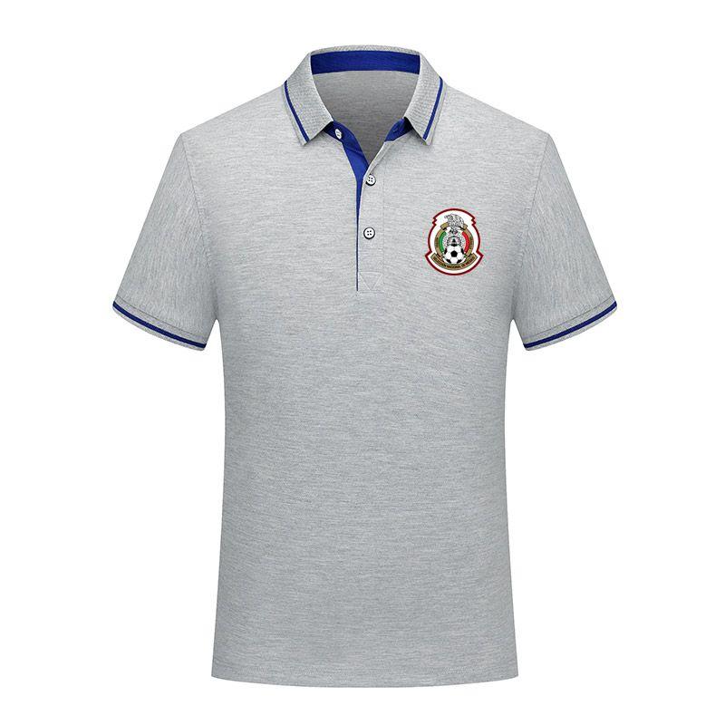 2020 México da equipe nacional de futebol homens Polo Futebol de manga curta polo formação Fashion Desportivo Polos do futebol do futebol T-Shir