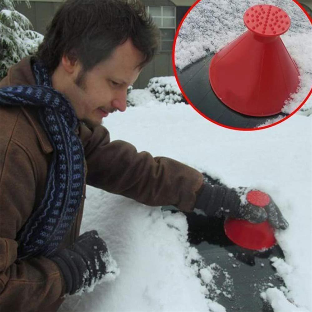 Parabrezza dell'automobile del ghiaccio di rimozione Raschietti neve auto DHL libero rotondo all'ingrosso parabrezza Ice Ruspe magico a forma di cono Pala Strumento