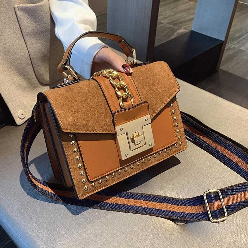 2020 mulheres sacos bolsas Mulheres Messenger Bags Tampa Rivet Bag Meninas Moda Shoulder Bag Ladies PU bolsas de couro VuTz #