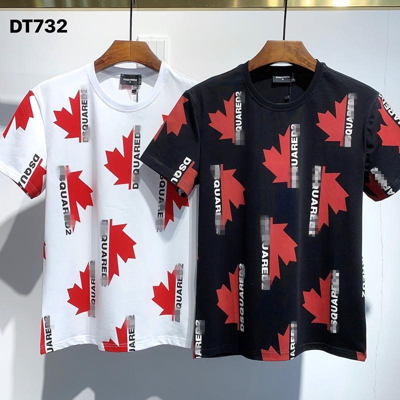 Sıcak Sat Klasik ICON 'Tasarımcılar Erkekler T Shirt DT732 Yaz Paris Moda' Lüks Stilist Casual Baskı İnce Hip Hop Tees 'D2 BB