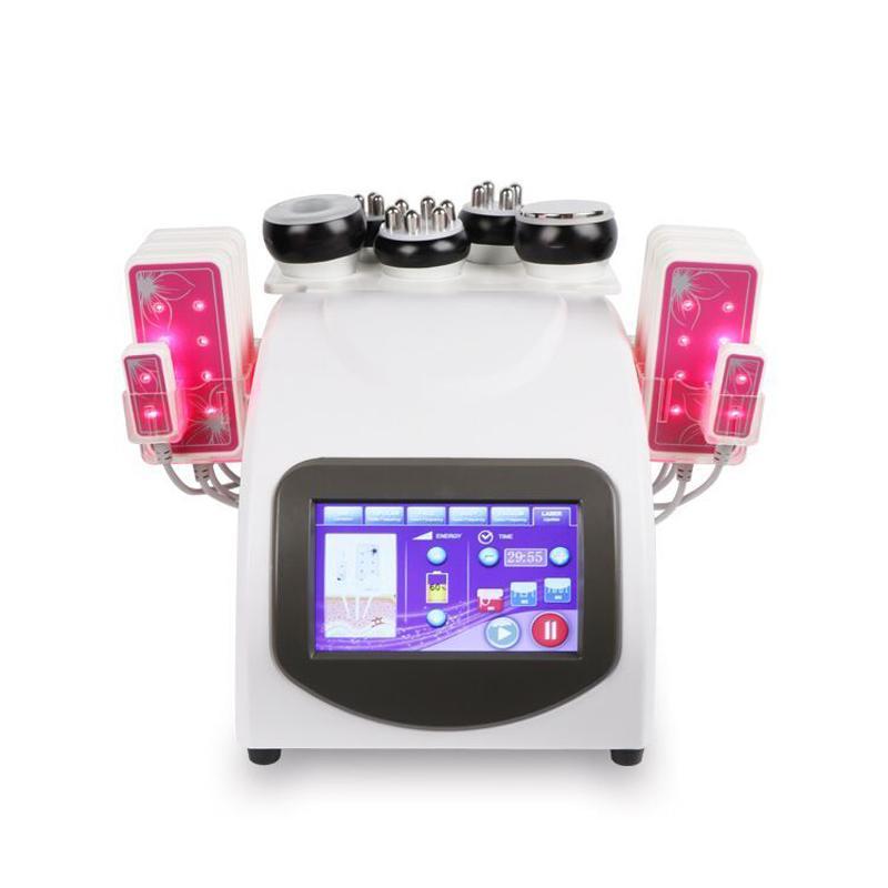 جودة عالية 40K التجويف بالموجات فوق الصوتية السيلوليت إزالة rf الجلد رفع تردد الراديو متعددة الأقطاب فراغ الجسم التخسيس آلة الشحن shipp