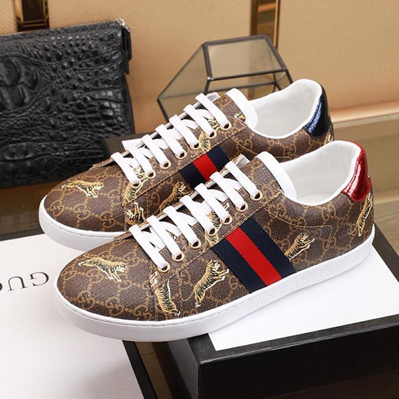 Entrega rápida para hombre de las zapatillas de deporte de los tigres para hombre Zapatos Zapatos De Hombre clásico de la manera del otoño y del invierno Footwears encaje -Up Plus tamaño de los zapatos de lujo