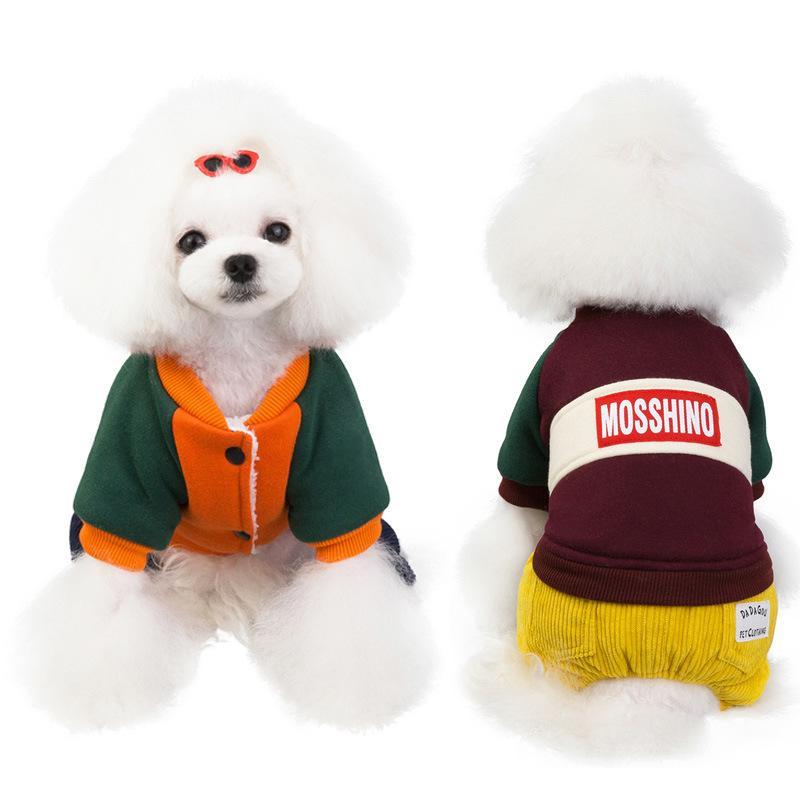 애완 동물 옷이 두꺼워 개 스웨터 겨울면 개 고양이 재킷 코트 테디 비숑 불독 스웨터 의류