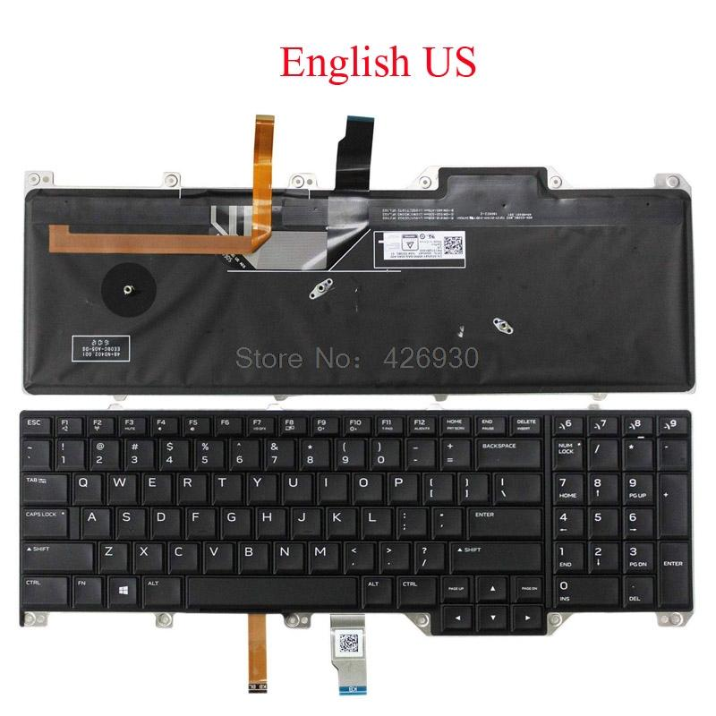Laptop US SP JP GR UK LA FR IT KR TW NE SW Keyboard For For Alienware 17 P31E English Japanese German Latin Spanish new