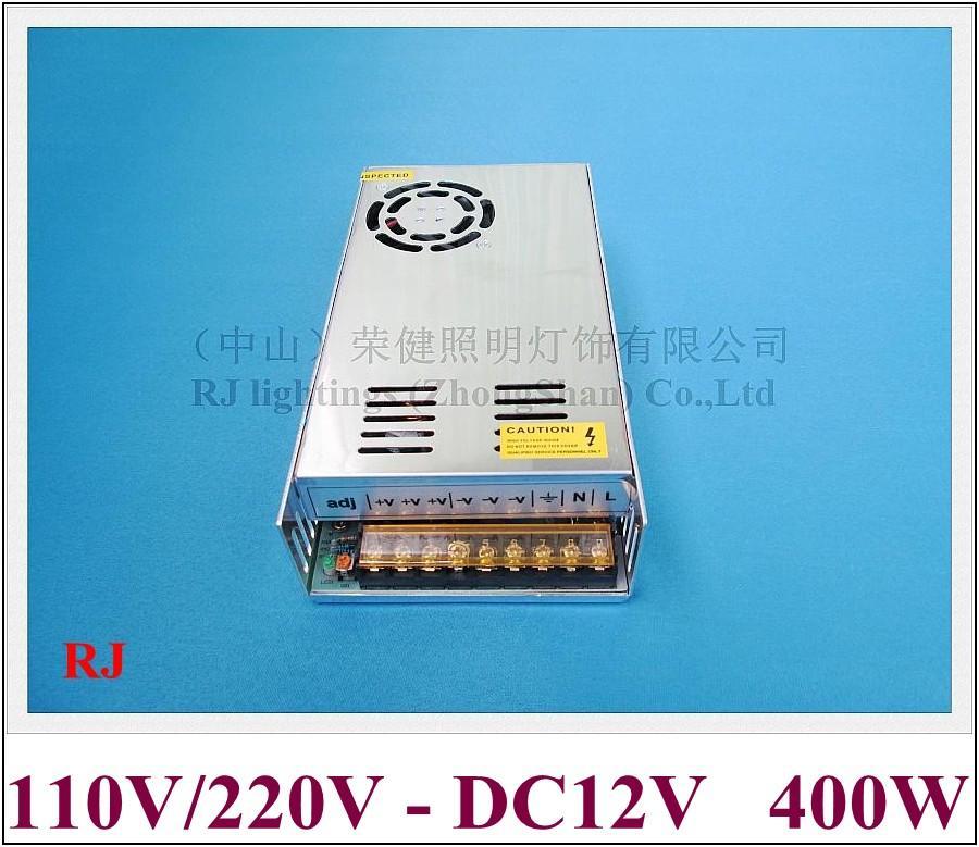 DC12V 400W LED التبديل إمدادات الطاقة LED التبديل محول الطاقة مدخل برنامج تشغيل AC110V / AC220V الإخراج DC12V 400W 33A CE بنفايات