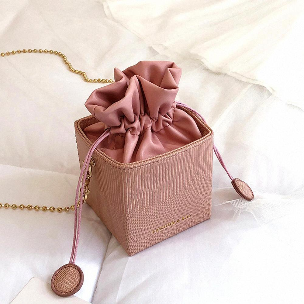 Moda Drawstring Balde Carteiras das mulheres Bolsas pequena aba Senhoras bolsas Box Forma Bolsas Bandoleira For Women 2019 Sac A principal qu9n #