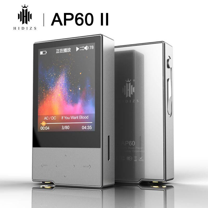 Joueurs MP4 Hizs AP60 II HIFI Potable Bluetooth 4.0 APT-X DSD USB DAC FLAC AAC ACE APE MP3 Player AKM4452VN MAX97220A AP60II