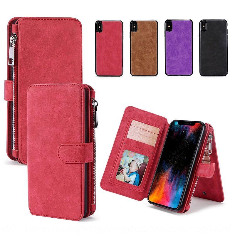 iPhoneXs scheda telefonica max copertura cellulare calotta di protezione custodia protettiva custodia in pelle 7 / 8plus multi-funzione per 12 cellulare
