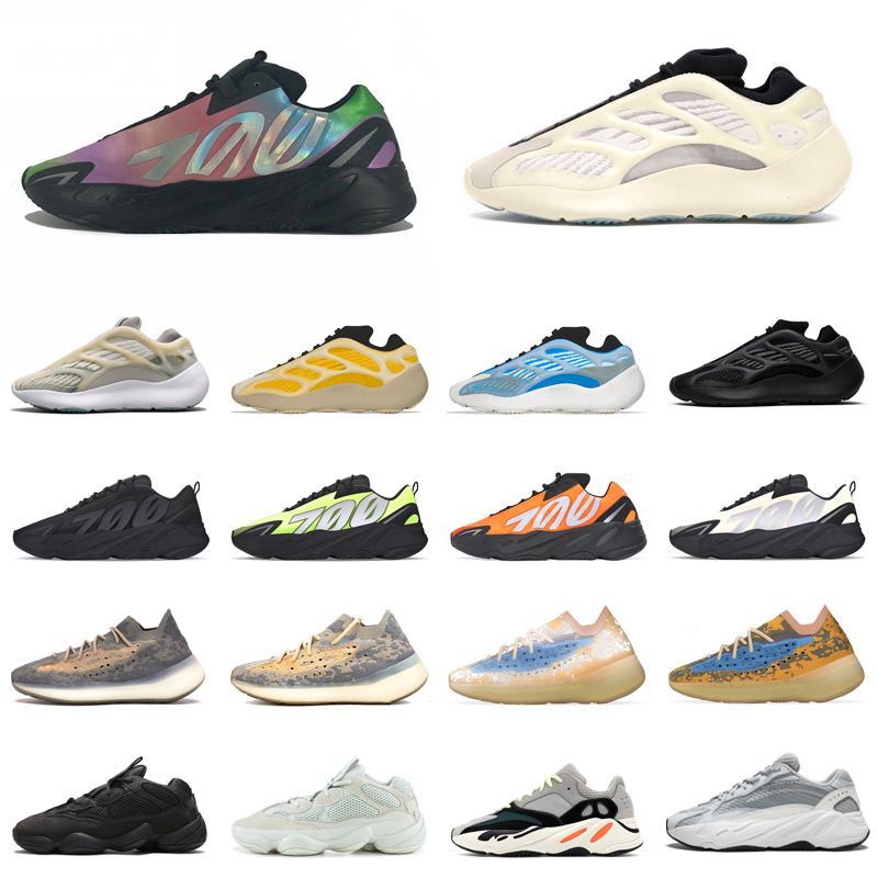 yezzy Kanye West 700 Running Shoes V2 V3 500 reflectante Chaussures Azael extranjero gris sólido estático de piedra para mujer para hombre de deporte entrenadores deportivos