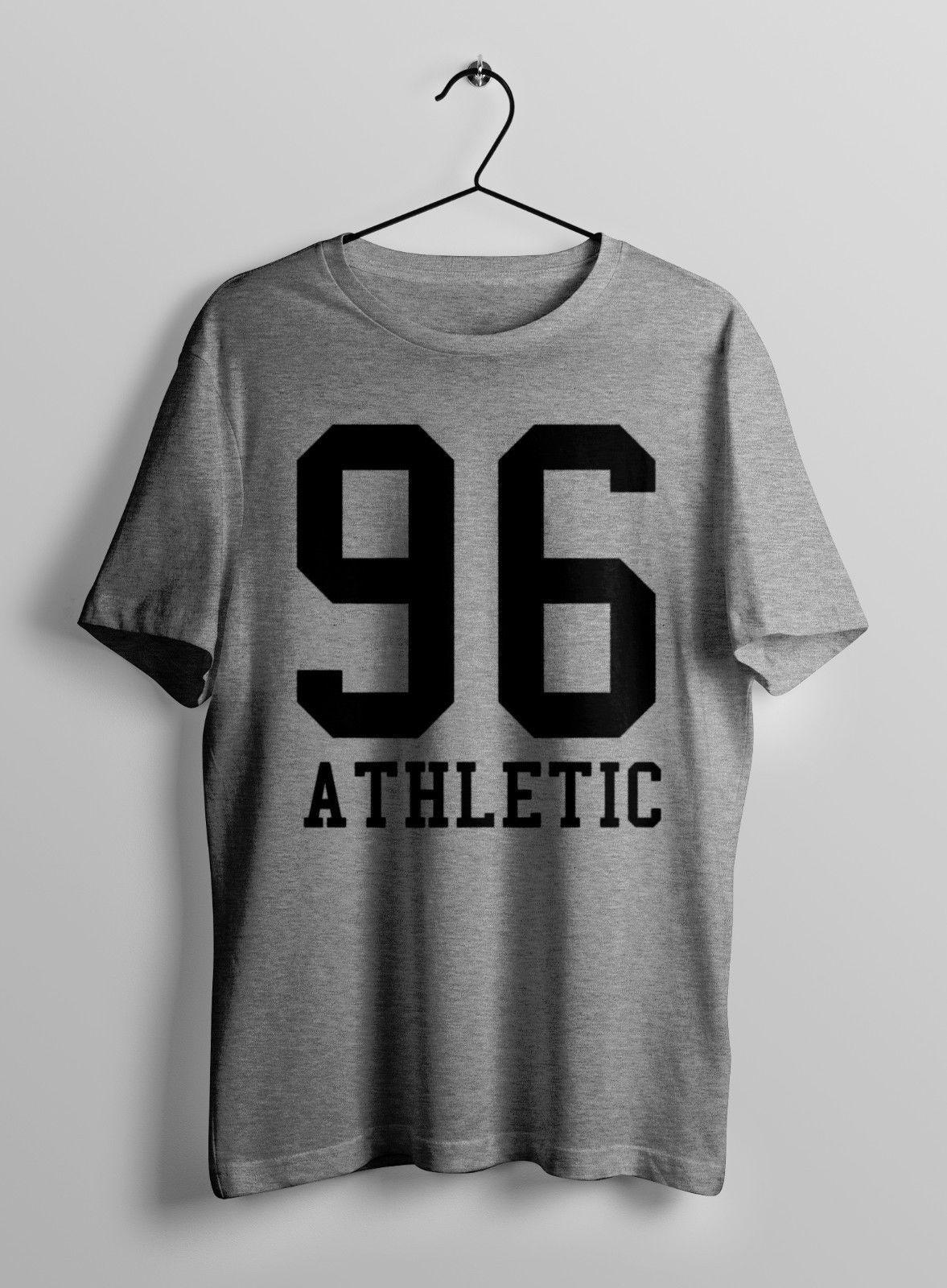 T-Shirt Men Kurzarm Lustige 96 LEICHTATHLETIK Fettdruck RETRO Turnhallen TRAINING TOP UNISEX-T-SHIRT T-SHIRT T-S-XXL Männer-Sommer-Art