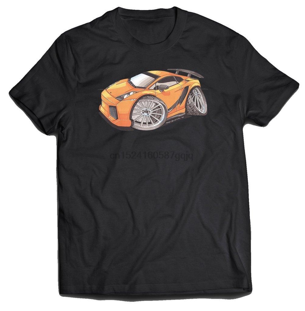 Мужчины Футболка Gallardo Superleggera Оранжевый Фронт Koolart T-Shirt Женщины T-Shirt