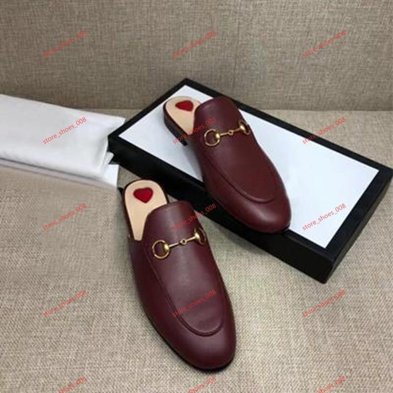 chaussures 2020 femmes s pantoufles de marque en cuir pantoufles chaussures plates occasionnels chaîne en métal mocassins femmes de mode