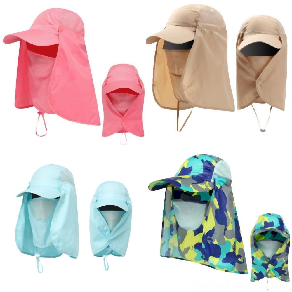 dAPZf bambini delle ragazze dei ragazzi della protezione Protezione solare Baby Beach Baseball Caps casuale faccia a copertura delle donne di inverno Cappelli Hip Con orecchie sveglie Infant Autum