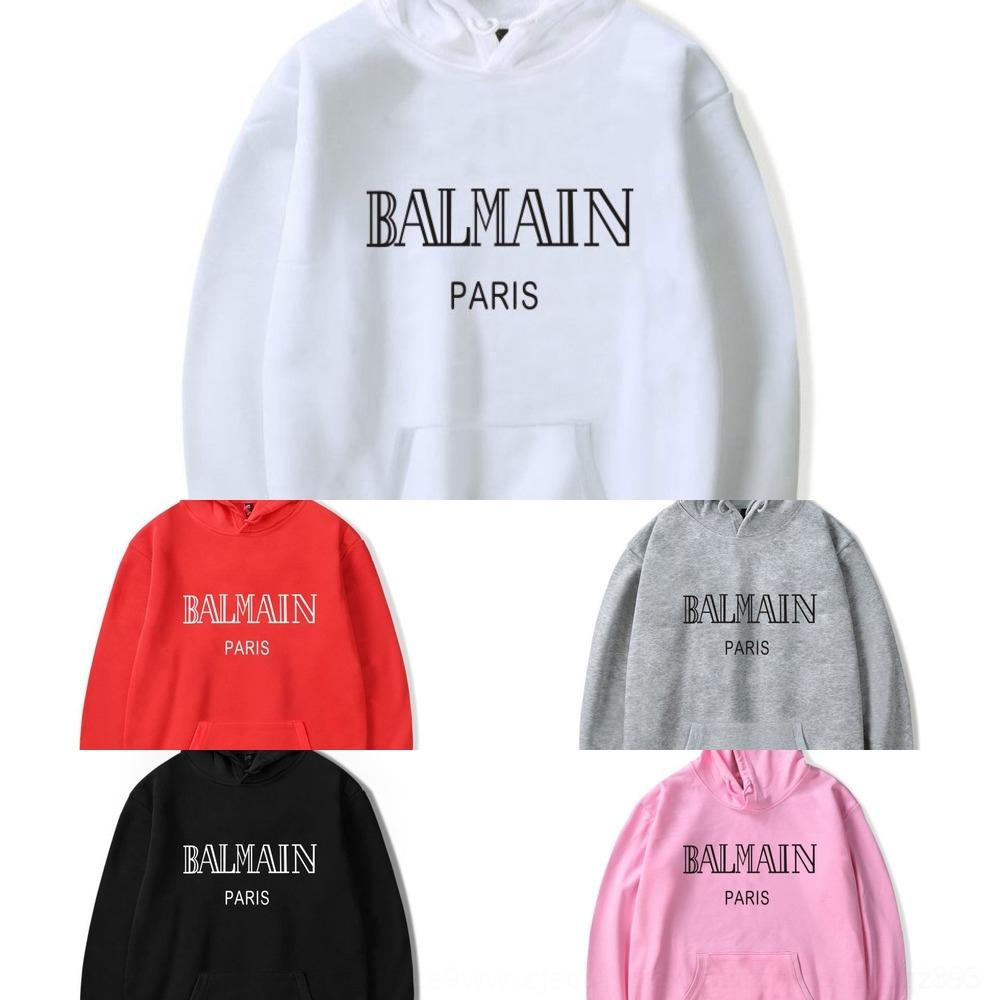 rm94P Новой печати английских мужчин Harajuku молодежи мода письма и шея круглой женщин с капюшоном свитера свитера
