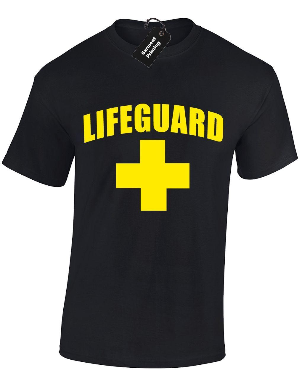 LIFEGUARD MENS T SHIRT FUNNY DESIGN FANCY DRESS BAYWATCH BEACH STAG PARTY TEE Cool Casual pride t shirt men Unisex New Fashion