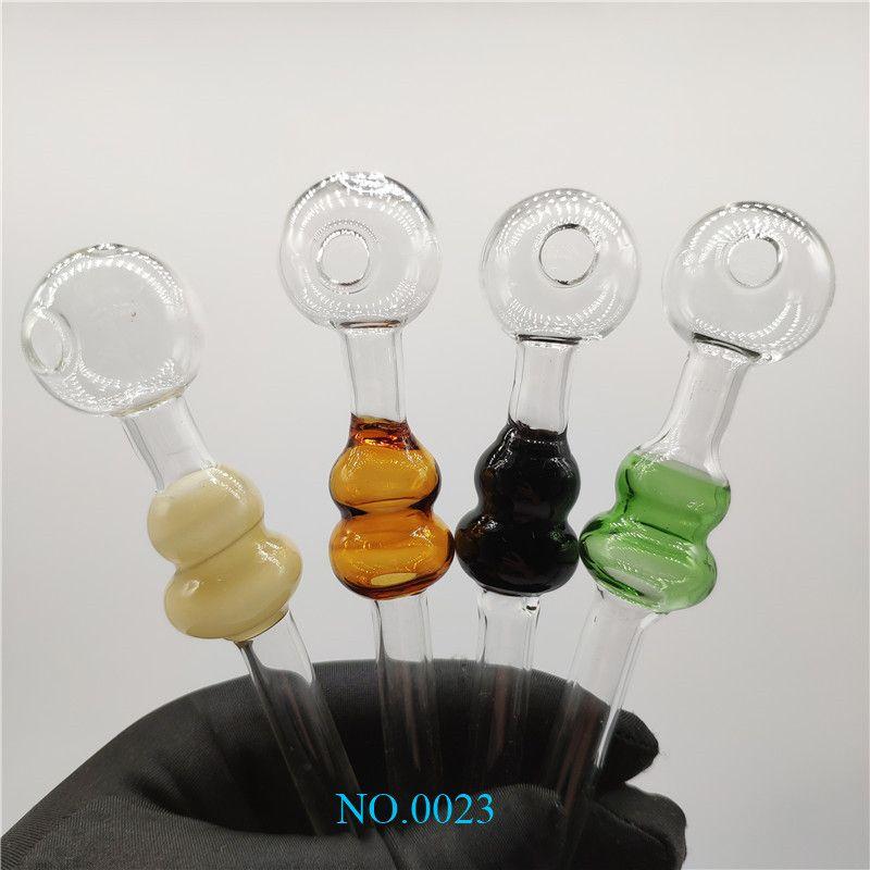 Bunte Beliebte Große Pyrexglas Ölbrenner Rohr Farbiges Glas Ölbrenner Wasserpfeifen Glas-Tubes Rohrölnagel Rohre für die Raucher 2323
