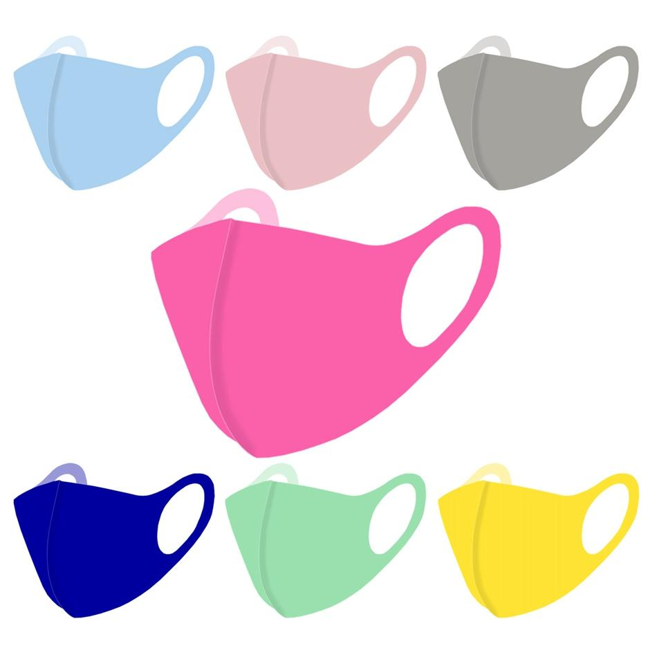 Máscara facial de verano color sólido de 11 colores colorido del polvo anti boca cubierta reutilizable lavable y transpirable máscaras protectoras OOA8290