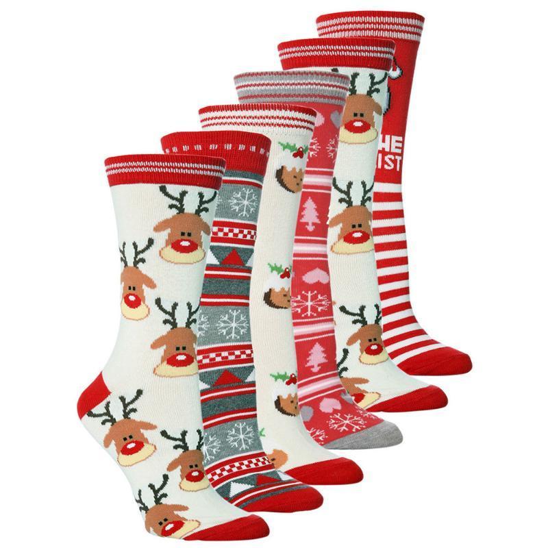 Chaussettes pour hommes Unisexe Casual Christmas De Noël Femmes Femmes Mignon Dessin animé Imprimé Espacement Sleeping Chaussette Femme Caltetines Mujer