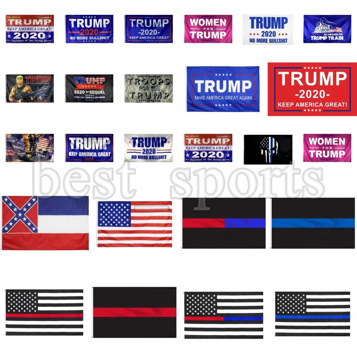 Trump Bandiere 90 * 150cm Trump 2020 Flags mantenere l'America grande degli Stati Uniti Mississippi State presidente Trump elezione Bandiere CYZ2707 300Pcs trasporto marittimo