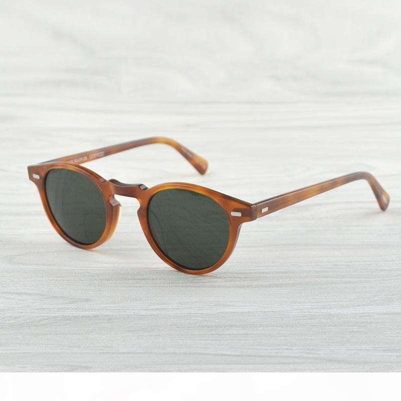 Gregory Peck Marka Tasarımcı erkekler kadınlar Güneş gözlüğü Oliver Vintage polarize güneş gözlüğü OV5186 5186 Güneş gözlüğü oculos de sol OV Retro