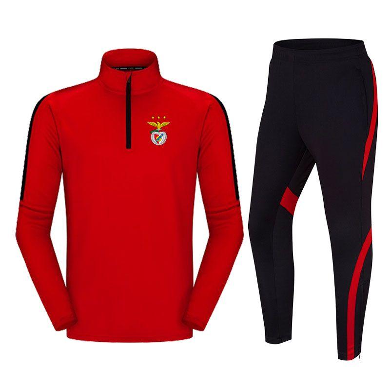Benfica Football Club Breathable Männer Fußball Anzug locker und bequem im Freien laufenden Trainingsanzug Herbst und Winter Fußball Tracksuits