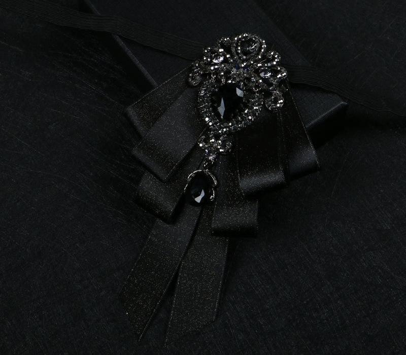 Schwarze Fliege Trend der neuen Art-Handgefertigte Bräutigam-Hochzeit Trauzeuge arbeiten roten Kragen Blumen Boutique Mode für Männer Kleid Fliege