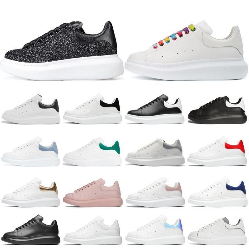 Hommes Femmes Plateforme Chaussures Mode Chaussures Multicolor réfléchissant Triple Noir Blanc Cuir Formateurs Suede Hommes Chaussures plates Casual 36-45