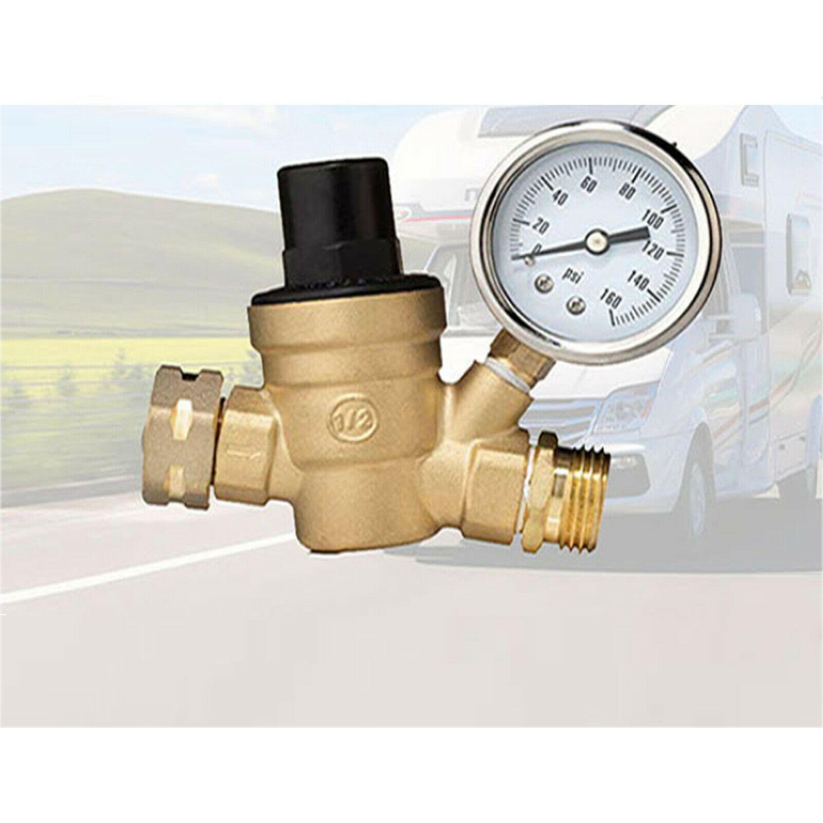 """3/4"""" di pressione RV acqua Regolatore senza piombo in ottone regolabile riduttore e Gauge"""
