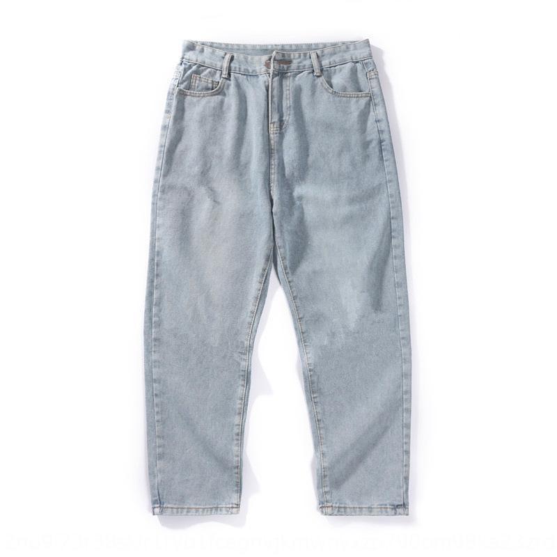 nueva caída similar 26N5o 2020 de los hombres pantalones de pierna ancha sueltos rectas papá y pantalones vaqueros del todo-fósforo del estilo de moda de Corea