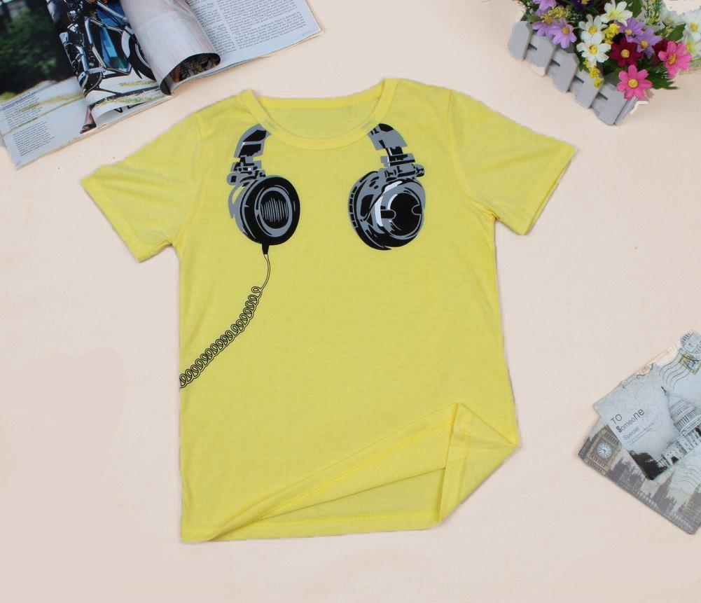 Koreanischen Stil T-Shirt Kinderkleidung Kleidungssommer earplug Muster Kinder Kurzarm-T-Shirt Jungen und Mädchen