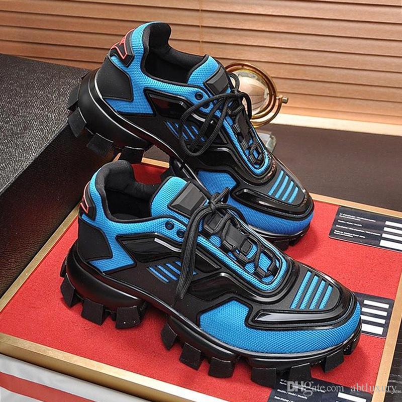 Mens Fashion Shoes Luxo Tendência Cloudbust Trovão Knit Sneakers Com Box Chaussures De Esporte Pour Designer Hommes alta qualidade RD51 Homens