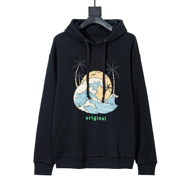 Mens alta qualidade Hoodies Homens Mulheres Moda manga comprida com capuz Jacket capuz Mens Suéter 2 cores do tamanho XS-L