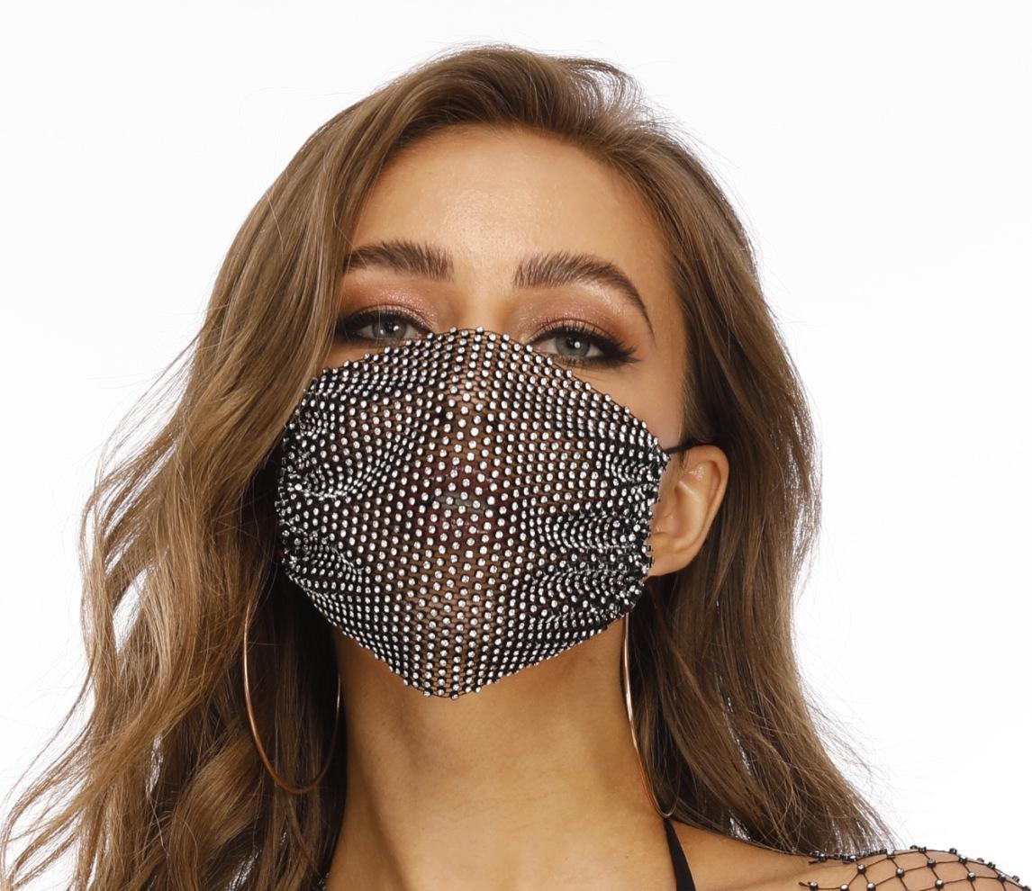 strass Internet diamante velo celebrità romanzo pesca maglia maschera strass stelle lavabile maglia velo maschera di diamante decorativo