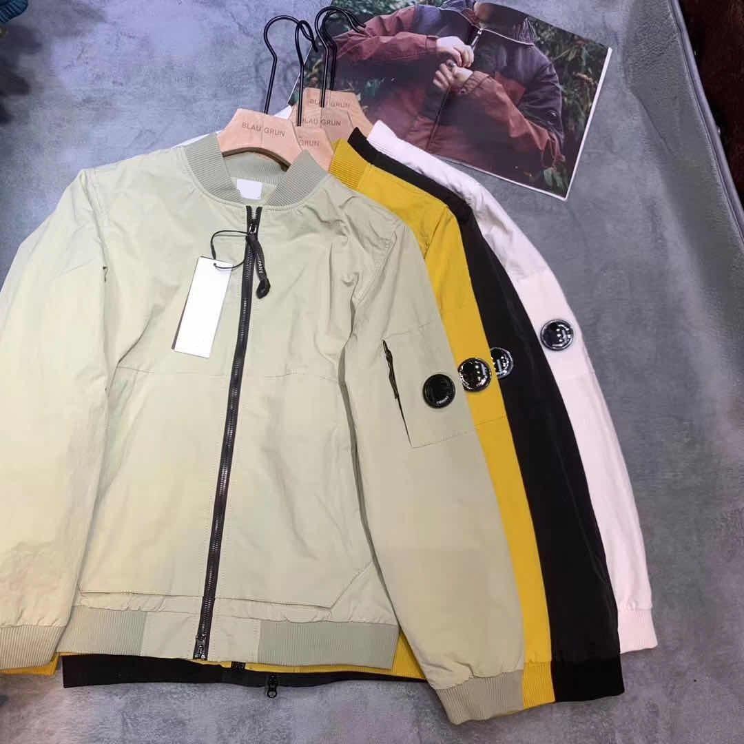 autumn men jacket fashion sports Baseball uniform letters digital printing outdoor waterproof windproof Arm glasses design V neck jackets