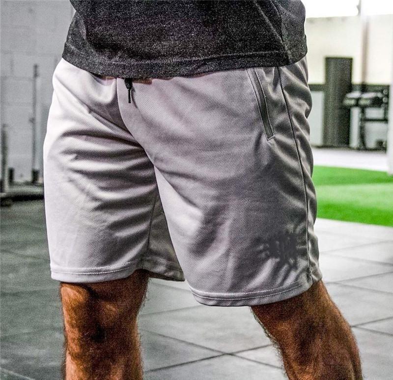 Цвет Drawstring Мужской Брюки Идущие Мужские Спортивные шорты лето Фитнес Сыпучие Активные мужские Короткие брюки Повседневные Твердая