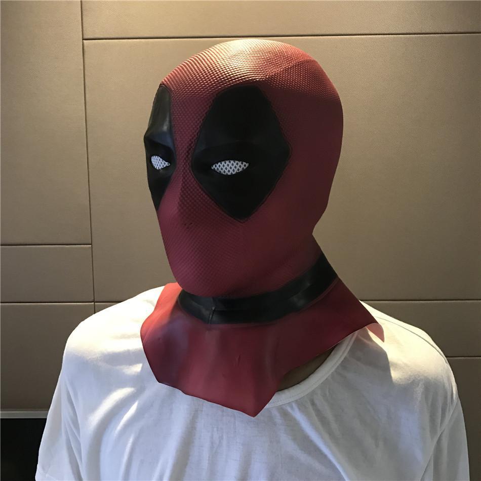 Latex Full Face Helmet Deadpool Wade Winston Wilson Party Costume Masks Adult Halloween Funny Props Movie Deadpool Cosplay Mask