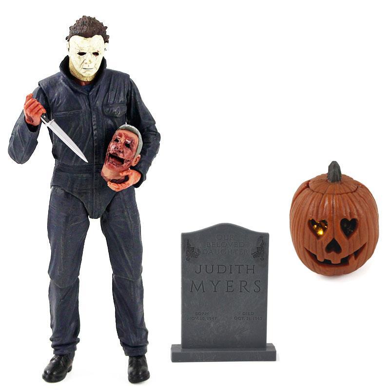 4 cm - 19 cm NECA filme Halloween final Michael Myers com LED Luz PVC Action Figure Collectible Modelo