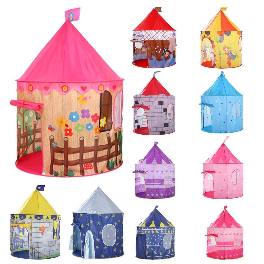 135CM Princess Castle Play Tent Ball Toys Pool Tent Boys Girls Portable Indoor Outdoor Baby Play Tents House Hut For Kids Toys Y200803