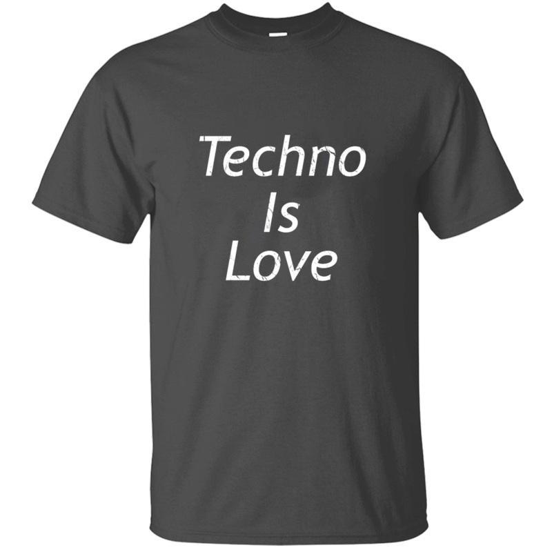 Crear Dj vendimia verano Techno es la música del amor de la camiseta redonda hombre famoso cuello de Harajuku de los hombres camisetas 2020 de gran tamaño S-5XL