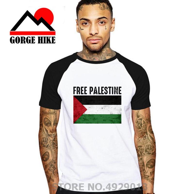 2020 Liberté pour la Palestine Drapeau T-shirt homme équipe masculine coton T-shirts Vêtements pour adultes Hauts imprimé à manches courtes T-shirts pour Homme
