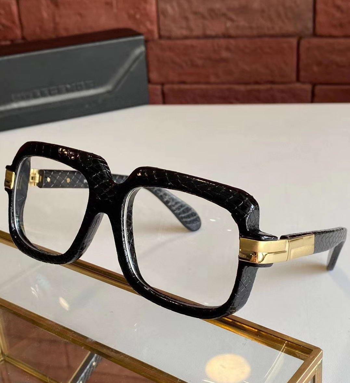 Sol con cuadrado fresco negro vintage marco de cuero gris lente sombreado 607 de gafas de sol hombres moda sugnlasses shades gafas de sol llenas gafas gjnm