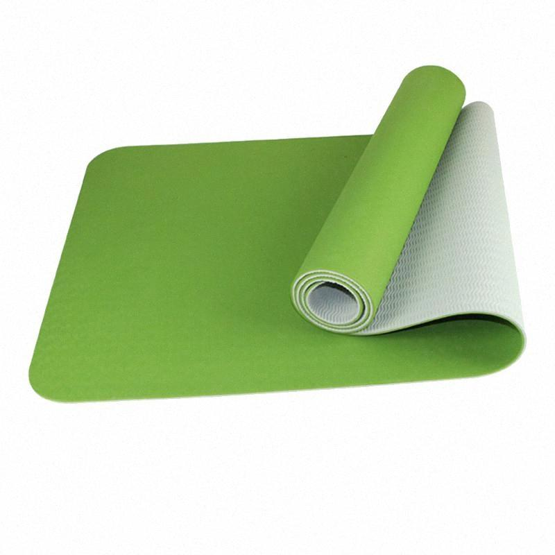 6 mm d'épaisseur Yoga Portable Mat pour les débutants avec empiècement en tulle Sac ultra-léger non-Slip antichocs Confort Fitness Mats Yoga Accessoires NKC1 #