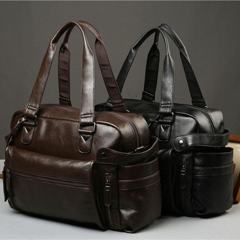 MENS портфель посыльного плеча сумки большой емкости сумки Бизнес кожи высокого качества Компьютерные сумки для ноутбука Многофункциональные