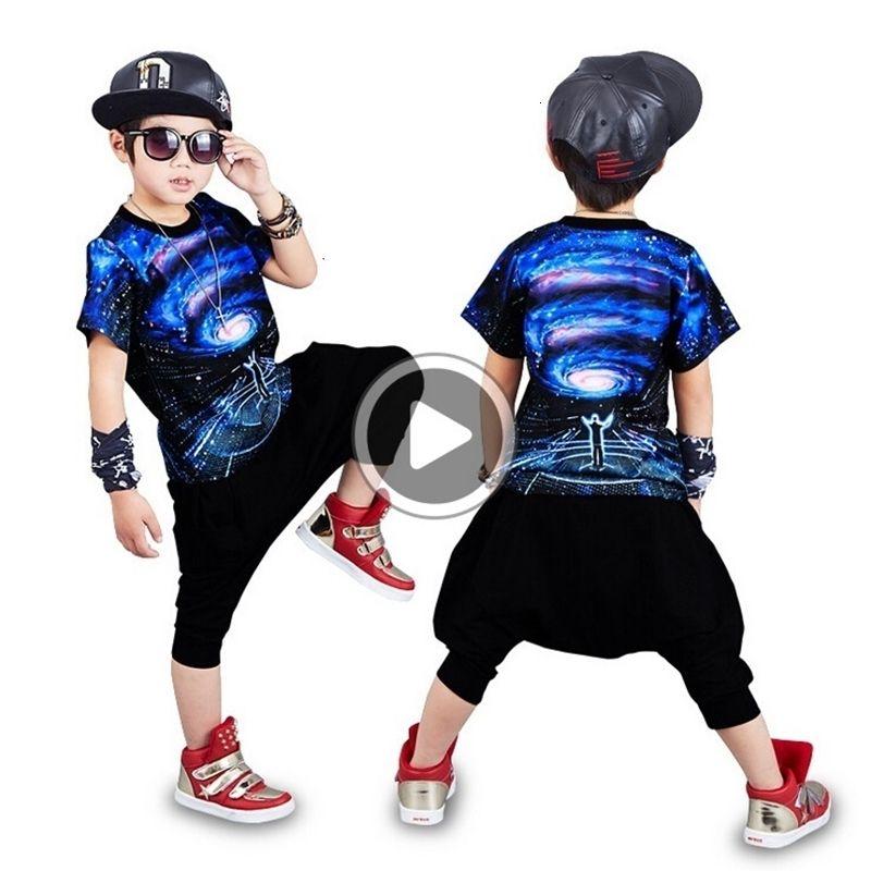 Spring Summer Children Clothing Set Costumes Star Universe 3D Print Kids Sport Suits Hip Hop Dance T-Shirt+Pants Boy Tracksuit