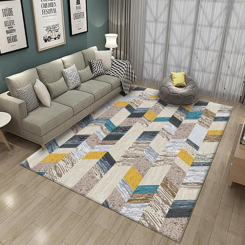 Carpets Nordic Style Printing Carpet Kids Crawling Mat For Living Room Table