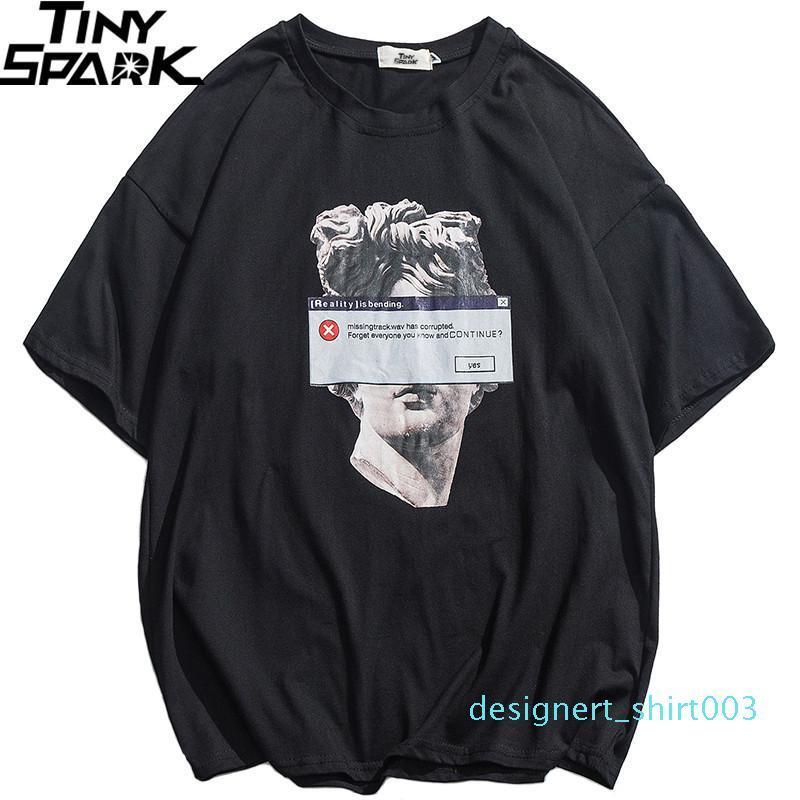 2020 Hip Hop Komik Tişörtlü Michelangelo Heykeli David Streetwear Tişört Erkekler Yaz Pamuk Harajuku Tişört Kısa Kollu Tişörtler D03 Tops